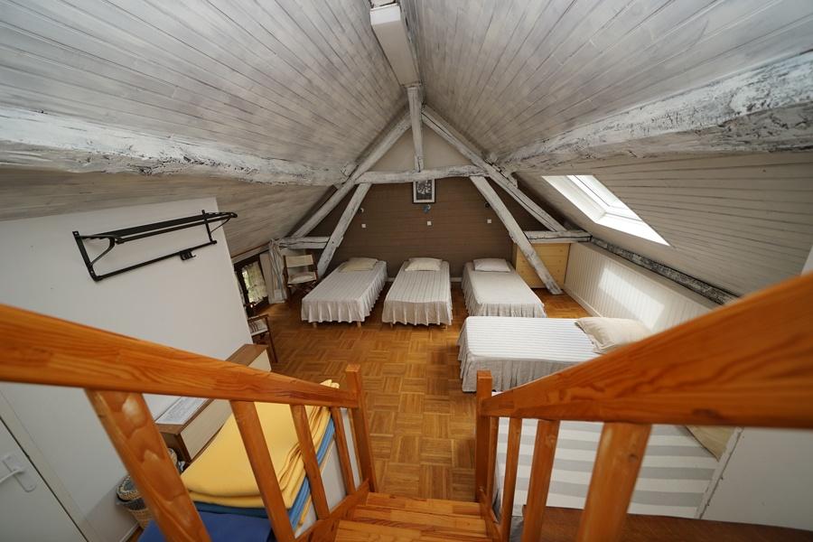 dortoir 5 lits, gîte la palombière