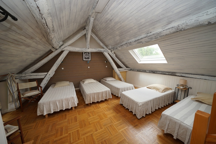 dortoirs 5 lits, gîte la palombière