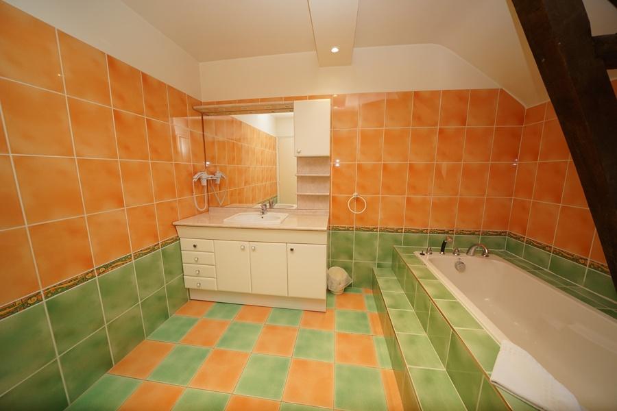 salle de bains, chambre rétro, gîte la palombière