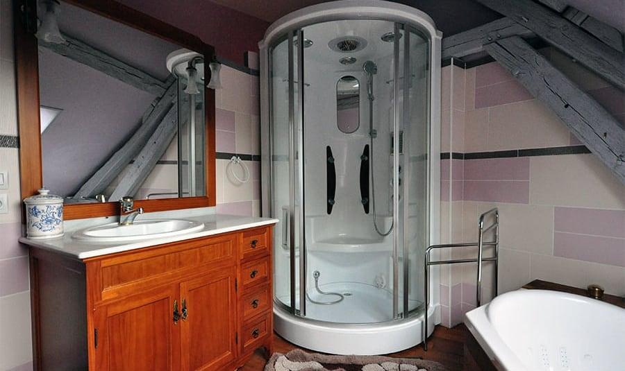 Salle de bain haut, la jarronnée, lgdb